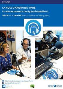 La Voix d'Ambroise Paré, la radio des patients et des équipes hospitalières