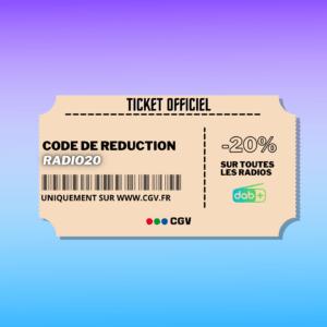 Ticket de réduction pour les offres du moment !