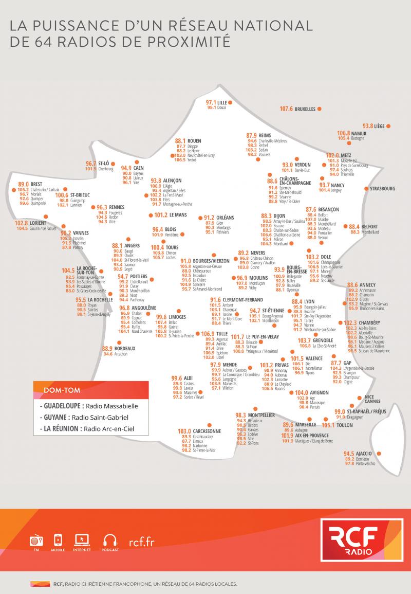 Carte de France RCF