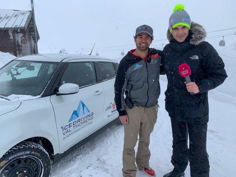 Réalisation de chroniques spéciales conduite sur neige avec Kévin Floury