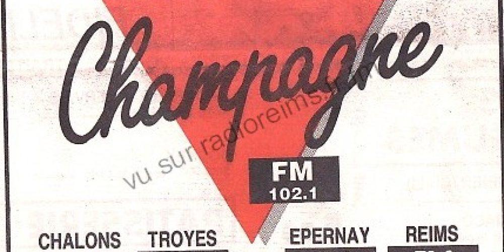 1er logo de Champagne FM