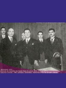1933 – Radio Paris devient le Poste national français de Radiodiffusion.