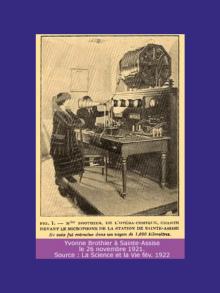1921 – 26 novembre  premier concert retransmis en direct